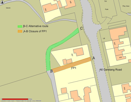 Footpath Closure - Broughton - 5 October 17 for 5 weeks