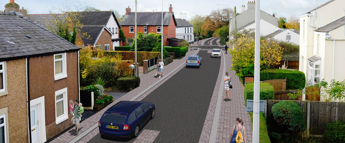 Artists Impression of Broughton Village Improvement Works